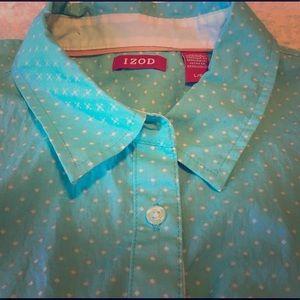 Turquoise Izod Button Down